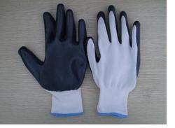 Nylon Grey Nitrile Coated Cut Resistant Hand Gloves, Size: S to XL