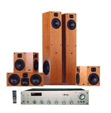 Wood Black 5.1 Audio Systems,Application Indoor