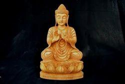 Wooden Sitting Jap Buddha Statue