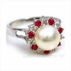 Pearl Stone Rings