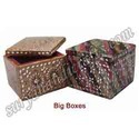 Wooden Box With Lac Mirror Work
