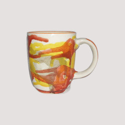 Designer Conical Painted Mug