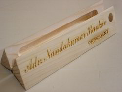 Wooden Desk Name Plate