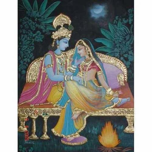 Radha Krishna Glass Paintings