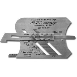 Adjustable Weld Fillet Gauge (GAL USA)