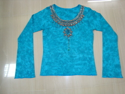 Womens Tie and Dye Hand Embroidery Party Wear