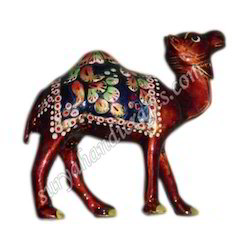 Metal Meenakari Painted Camel
