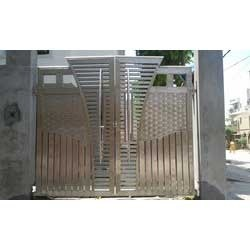 Steel plates gate gate grilles fences railings s f for International decor gates