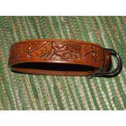 Bridle Leather Dog Collar Antique