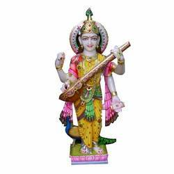 Marble Colored Saraswati Devi Statue