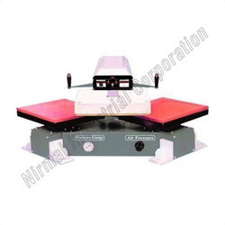 Pneumatic Heat Transfer Sticker Machine Double Bed, For Industrial, Automation Grade: Automatic