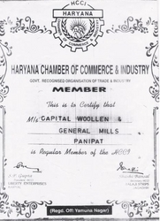 Haryana Chamber of Commerce & Industry(HCCI) Certificate