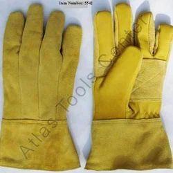Leather Hand Gloves, 6-10 Inches, Finger Type: Full Fingered