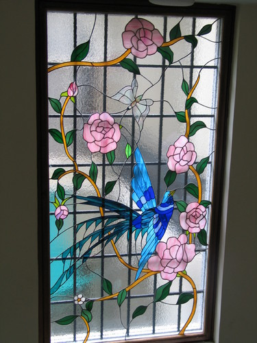 Original Stained Glass Stained Glass Window Bird Of