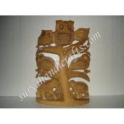 Wooden Tree with Sitting Animal
