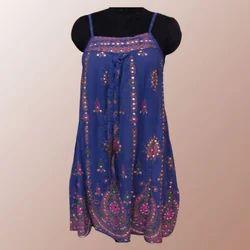 Viscous Print Sequins Dress
