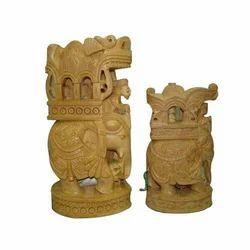 Wooden Elephant Ambabari