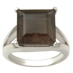 Square Stone Sterling Silver Ring