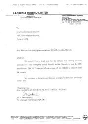 Certificate by L & T 1