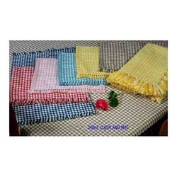 Cotton Stripe Colored Table Cloths