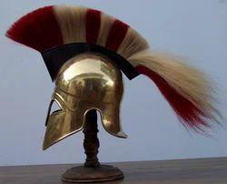 Corinthian Helmet In Brass With Crest