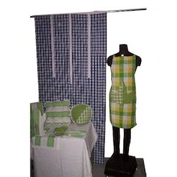 Checks With Stripes Cotton Home Textile Set