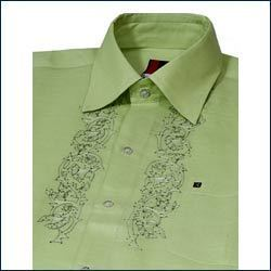 Embroidered shirts suppliers manufacturers traders in for Linen shirts for mens in chennai