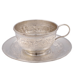 German Silver Cup Plate