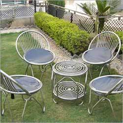 stainless steel garden furniture