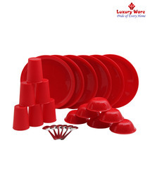 Red Plastic Ware