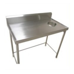 Dish Landing Table With Chute