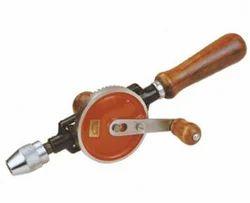 hand drilling machine. hand drill machine drilling a