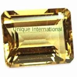 Citrine Octagons Cut Gemstone