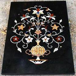 Exceptional Marble Inlay Table Top