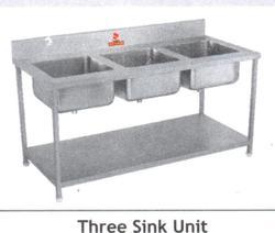 Three Sink Unit