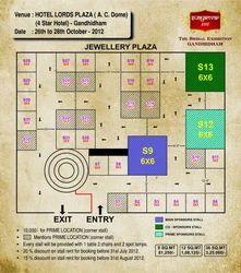 Floor Plan For Gandhidham Exhibition In October - 2012