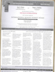 International Quality Summit Award, New York