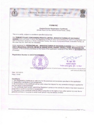 Excise & Custom Registration Certificate