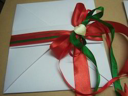 fancy handmade paper envelopes with ribbons