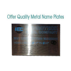Stainless Steel Metal Name Plates