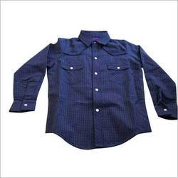 Yarn Dyed Check Shirt With Solid Lining