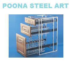stainless steel trolley - modular kitchen trolleys wholesaler from
