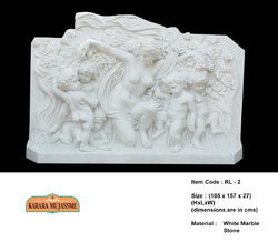 White Marble Stone Relief