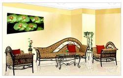 Decorative Metal Stylish Sofa Set, Cushion Back, Living Room