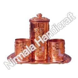 Handcrafted Copper Jug Set