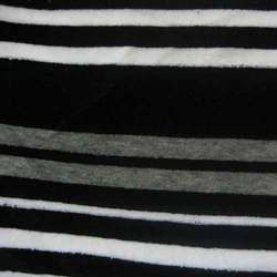 Yarn Dyed Auto Striped Velour Fabric