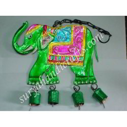 Iron Painted Elephant Hanging