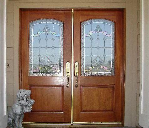 Merveilleux Double Half Glass Door Furniture