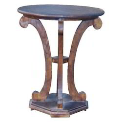 Rounded Stool with Half Round Legs