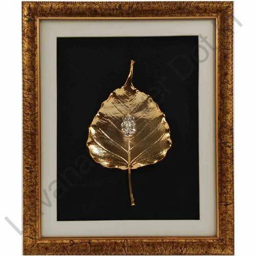 ffa17592e97d Gold Plated Peepal Leaf with Ganesha Wall Frame - Lavanaya Silver.in ...